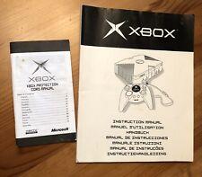 Original Microsoft Xbox Instruction Manual & Cord Protection Manual