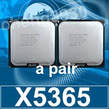 a pair Intel Xeon X5365 Quad-Core 3.0 GHz 8M 1333MHz SLAED CPU Processorr