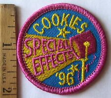 """Girl Scout 1996 COOKIE SALE PATCH """"Special Effects"""" Hollywood Stage Set LAVENDER"""