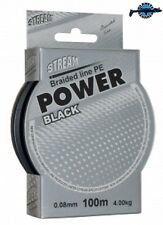 Bobine 100m tresse qualité Power Black STREAM pêche leurres higher braided line