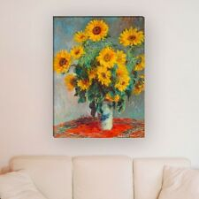 "WANDKINGS Leinwandbild Claude Monet - ""Sonnenblumen"" verschiedene Größen"