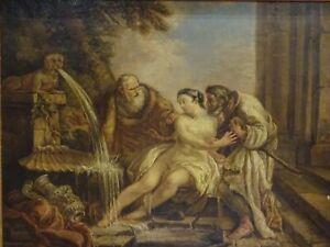 Large 18th century French Old Master Susanna & The Elders CHARLES JOSEPH NATOIRE