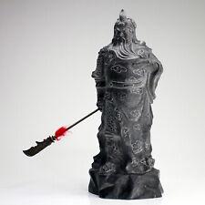 """Steinfigur """"Guan Yu"""" große Kwan Yu Statue asiatische Stein Skulptur 42 cm"""