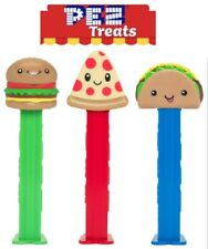 Pez Treats Set Of 3 - New For 2021! - Burger, Pizza & Taco - Mint In Bags