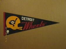 WFL Detroit Wheels Vintage Defunct 1970's 2 Bar Helmet Logo Football Pennant