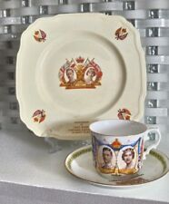 ENGLAND ALFRED MEAKIN KING GEORGE VI ELIZABETH PLATE AINSLEY CUP SAUCER Royalty