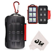 Water-Resistant Anti-shock Memory Card Case Holder for 12 SD+12 Micro SD TF Card