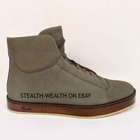 Gucci Men's Suede Nubuck Leather High-Top Lace-Up Sneaker Boot 353411 5 G