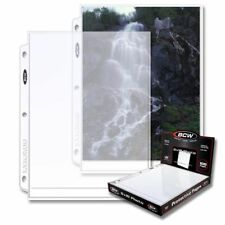 (100) BCW PRO 1-POCKET PHOTO PAGES - 8 X 10