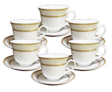 Case of 36 Gold Border Wholesale Tea Cups and Saucers FREE SHIPPING