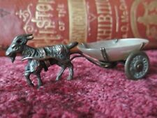 Perry & Co London, Victorian,Goat cart thimble holder.