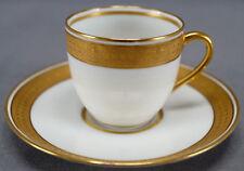 Set of 4 Ahrenfeldt Limoges JE Caldwell Gold Encrusted Demitasse Cups & Saucers