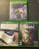 LOT OF 3 XBOX ONE VIDEO GAMES FALLOUT4  DESTINY Star Wars Battlefront