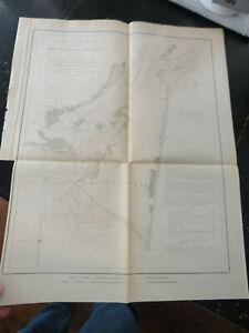 Cape Fear River & Inlet, North Carolina, 1853 US Coast Survey , Wash DC