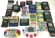 17 Pc Lot Vtg Handheld Electronic Games MGA Tiger Poker Slots Casino Game & More