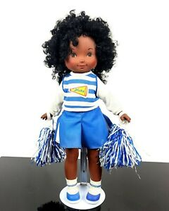 "Vintage 1980s Fisher Price MY FRIEND NICKY DOLL #206  Cheerleader 17"" tall 1984"