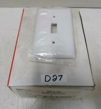 PASS & SEYMOUR WHITE 1 GANG TOGGLE SWITCH WALL PLATE SP1-W *BOX OF 25*