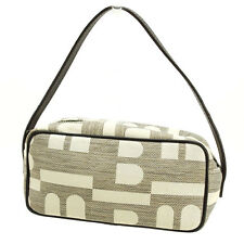 Burberry Pouch Bag Beige Brown Woman Authentic Used B738