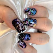Jellyfish color real nail polish strips Zz10 street art wraps