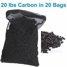 20 lbs Activated Carbon in 20 Media Bags for Aquarium Fish Pond Canister Filter