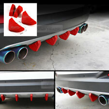 Bumper Diffuser Molding Aero Parts Lip Fin Body Spoiler Red 4P for MercedesBENZ