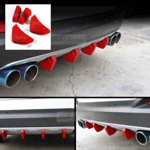 Bumper Diffuser Molding Aero Parts Lip Fin Body Spoiler Red 4P for MercedesBENZ