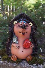 Keramik Igel Igor Pflanzkübel Deko Gartenstecker Beet Handarbeit Figur Herbst