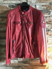 Giubbotto Biker in Pelle Freaky Nation XL colore Rosso