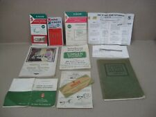 Vtg Singer Sewing Machine Attachments Manuals Needles Books 221 Featherweight &
