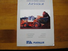 Fiat-Allis FR140.2 Wheel Loader Color Sales Brochure in English