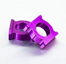 Purple Chain Adjusting Adjuster Blocks Honda CBR900RR CBR929RR Fireblade 00-03