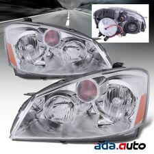 For 2005-2006 Nissan Altima Sedan Chrome Headlights Replacement Lamps Pair