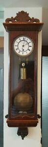 SINGLE WEIGHT LECHNER JOSZEF 8 DAY VIENNA REGULATOR WALL CLOCK