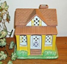 PartyLite Lemon Drop Inn House Tealight Candle Holder #P0599
