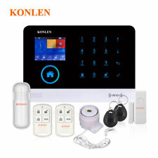 Wireless WIFI GSM Home Security Alarm System RFID LCD Voice SMS Call App Control