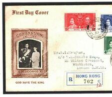 HONG KONG CORONATION FDC Illustrated 1937 First Day Cover ROYALTY {samwells}MC49