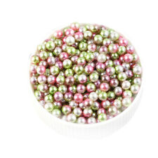 4-6mm Multicolor Round ABS Imitation Pearl Beads Decor without Holes DIY Crafts