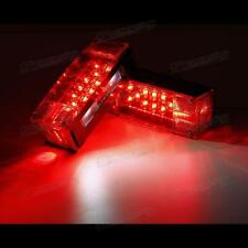Rectangle 2pc Submersible Trailer RV TRUCK LED Light Red Stop Turn Tail Brake