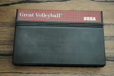 Jeu GREAT VOLLEYBALL pour Sega MASTER SYSTEM (CARTOUCHE SEULE)