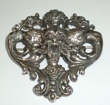 Vintage Italian Sterling Mythological Griffin Dragon Devil Demon Brooch Pin