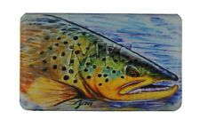 MFC MIDGE FLYWEIGHT FLOATING FLY BOX HALLOCK'S BROWN TROUT FOAM MAGNETIC-CLASP
