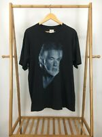 RARE VTG 90s Kenny Rogers Big Print Winterland Black Single Stitch T-Shirt XL