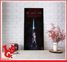 STAR WARS Poster Verre REY Lightsaber Les Derniers Jedi 60 x 30Cm # NEUF #