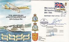 AC15 70th Anniv 201 Additional Signed Flt Lt L H Baveystock DSO, DFC, DFM
