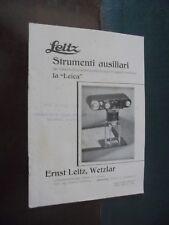 LEITZ – STRUMENTI AUSILIARI ... fotografie di piccoli oggetti mediante la LEICA