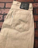 Levi's 514 Men's Straight Leg Tan Jeans Pants Size 32 x 32