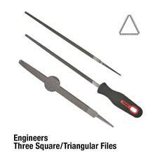 Three Square File Bastard-100mm Toledo 04TSQ01CD Width:8mm Handle Reference:No.1