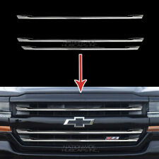 2016-2018 Chevy Silverado 1500 LT Z71 CHROME Snap On Grille Overlay Grill Covers