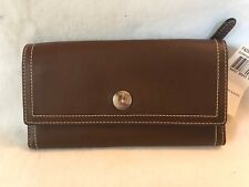Coach Hamilton Slim Envelope Trifold Wallet Mahogany Brown Leather F42981 NEW
