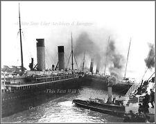 Photo: RMS Titanic, The Oceanic, The SS New York & Tug Vulcan, April 10, 1912